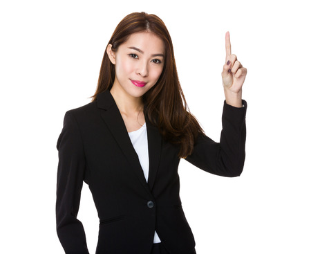 counting: Asian businesswoman counting