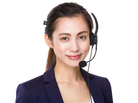 professional people: Customer services assistant Stock Photo