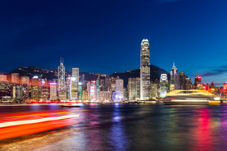 Hongkong-Nachtsicht