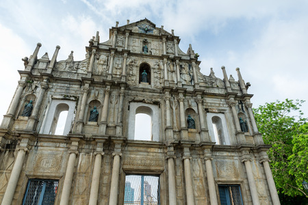 paul: Ruins St Paul church in Macau, China