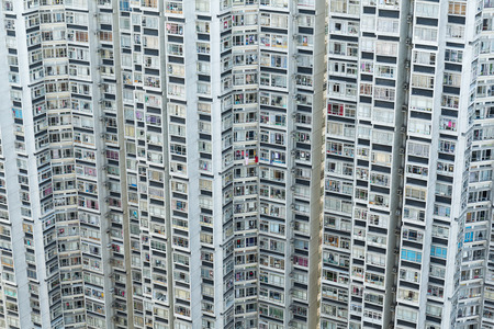 cramped: Hign density residential building in Hong Kong