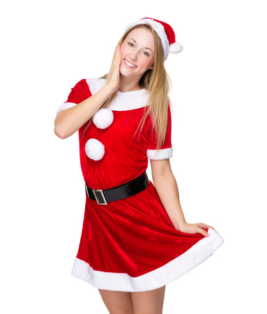 christmas costume: Young Woman with christmas costume