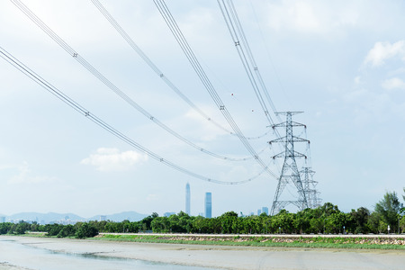 green power: Electricity power tower