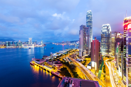 hong kong harbour: Hong Kong city