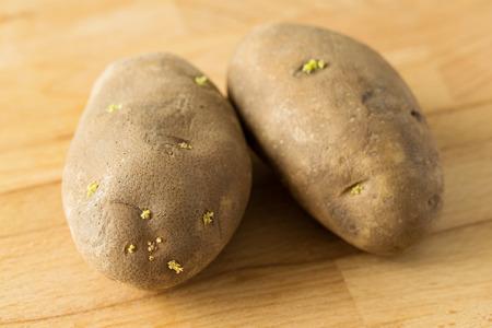russet potato: Potato with sprout