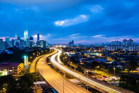 klcc: Kuala Lumpur city at night
