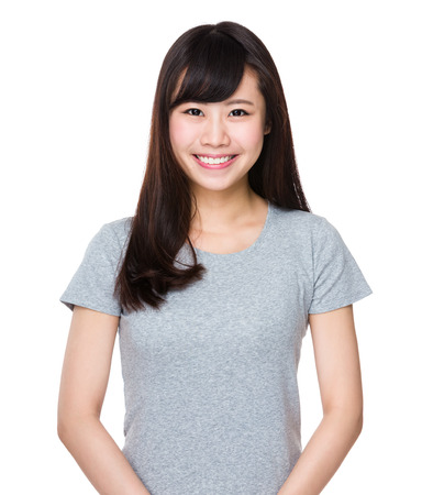 tee: Woman portrait Stock Photo