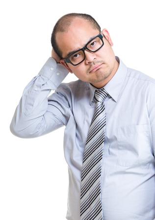 bald man: Hombre de negocios confuso