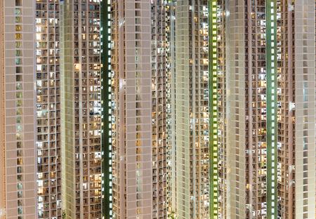 public building: Hong Kong public building at night