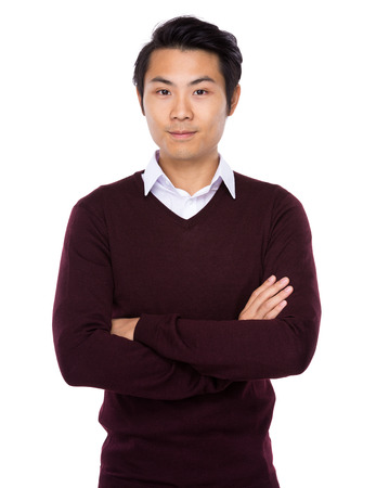 asian model: Handsome Asian male standing