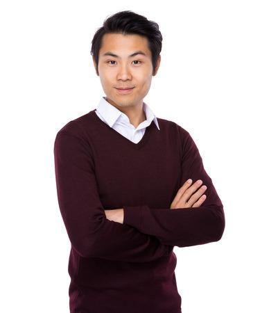 아시아 젊은 남자가 초상화