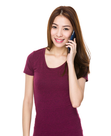 Young Asian woman using mobile phone