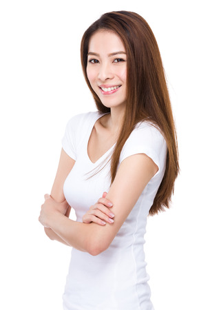 confident: Asian young woman