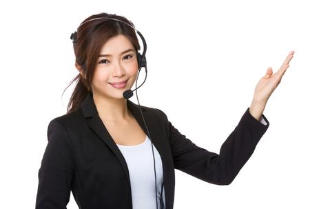 hot secretary: Customer service woman
