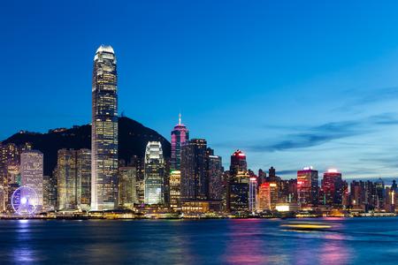 hong kong city: Hong Kong City at night