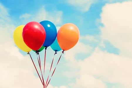 flotation: Colorful balloons