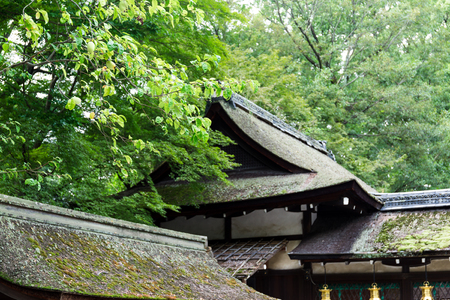 japanese temple: Japanese temple roof tile