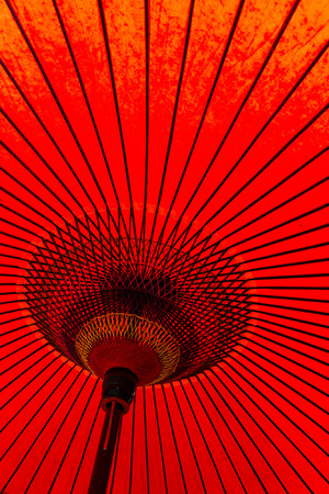 paper umbrella: Japanese style red mulberry paper umbrella