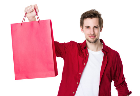 shoppingbags: Young man with shopping bags