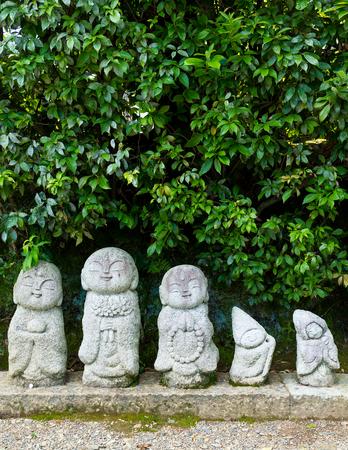 jizo: Nagomi Jizo in temple Stock Photo