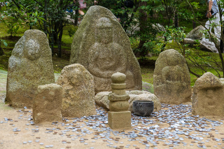 japanese temple: Nagomi-Jizo in japanese temple