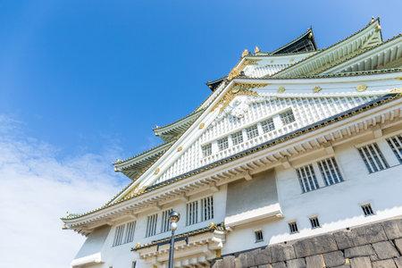 osakajo: Osaka castle with clear sky Editorial