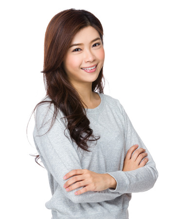 femmes souriantes: Femme asiatique  Banque d'images