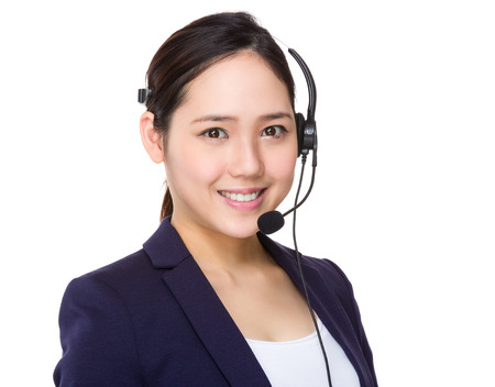 customer: Customer services assistant Stock Photo