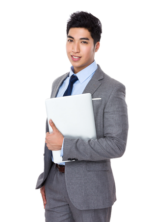 to the secretary: Businessman Stock Photo