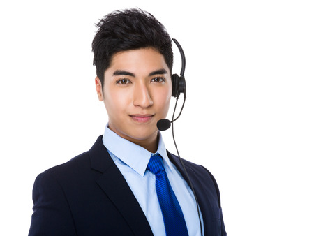 headset business: Customer services officer portrait