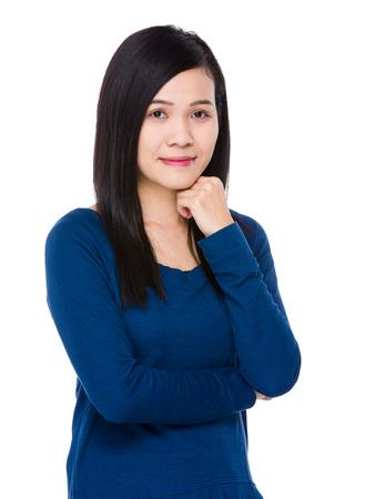sweatsuit: Young woman portrait