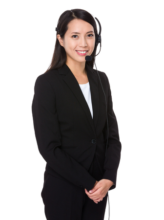telephone saleswoman: Customer services officer
