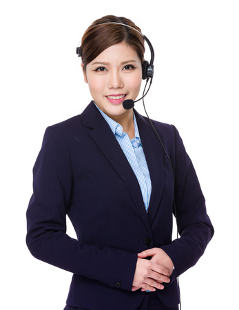 hotline: Hotline services operator Stock Photo