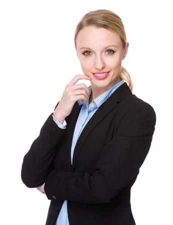american banker: Businesswoman portrait
