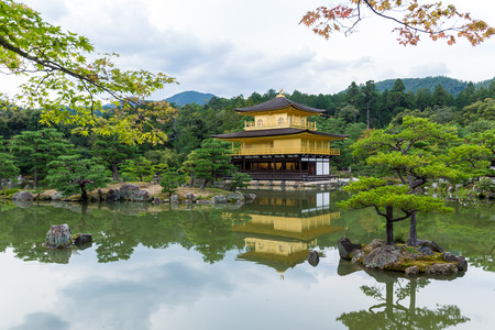 buddhist temple: The Golden Pavilion in Kyoto - Japan Stock Photo