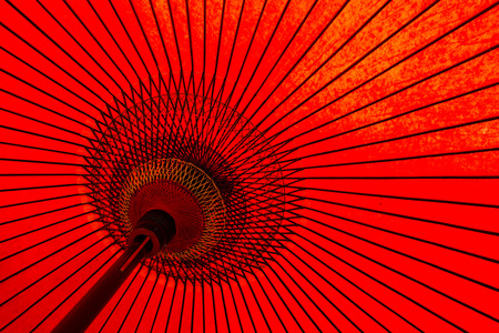 Traditional Japanese red umbrella Stok Fotoğraf - 49153690