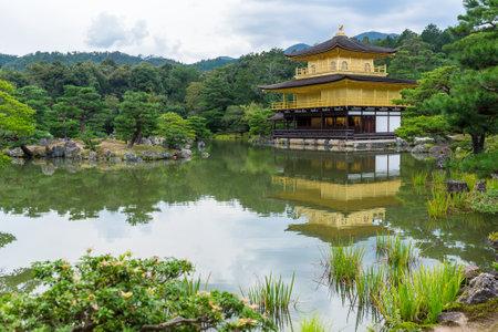 rokuonji: Golden Pavilion Kinkakuji Temple in Kyoto Japan Stock Photo