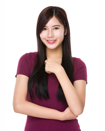 confident: Young asian woman