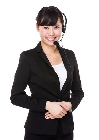 call center representative: Call center representative Stock Photo