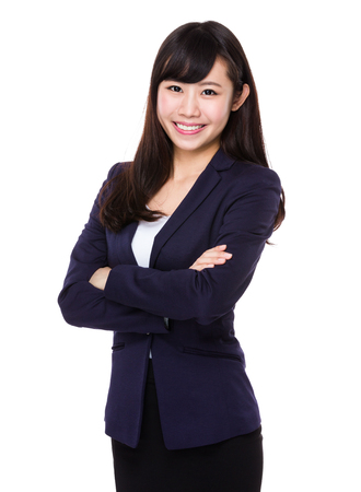 arms folded: Asian Young Businesswoman portrait