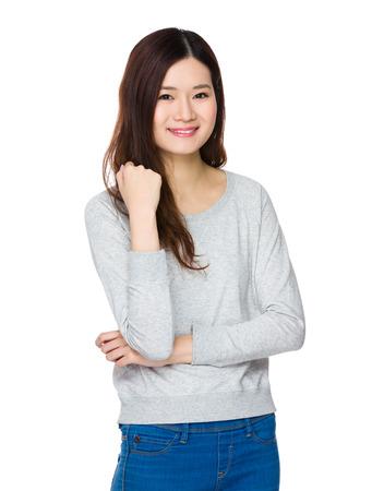 sweatsuit: Asian Young Woman