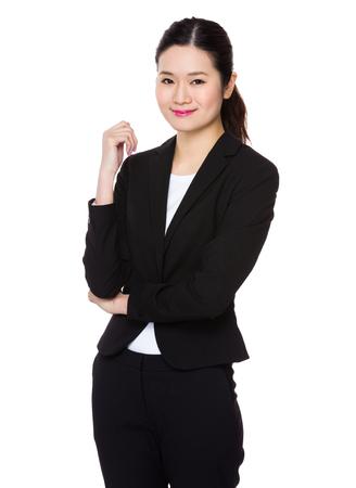woman posture: Asian Young Businesswoman portrait