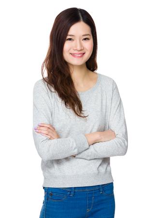 sweatsuit: Young Woman Stock Photo