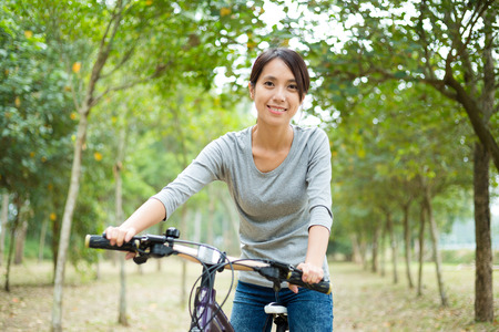 go for: Woman go for riding bicycle