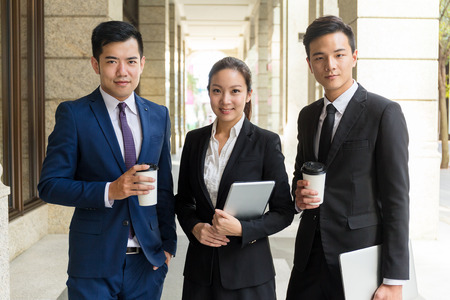 asia business: Group of business people