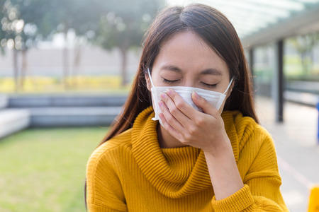particulate: Young Woman want to vomit
