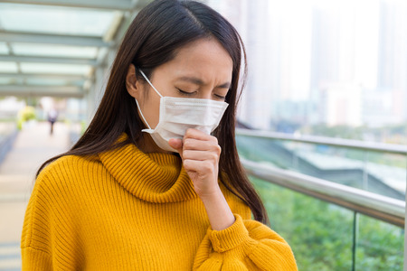particulate: Young Woman feeling unwell