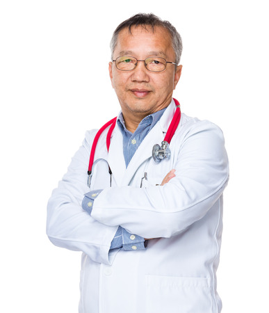 Asian old doctor photo