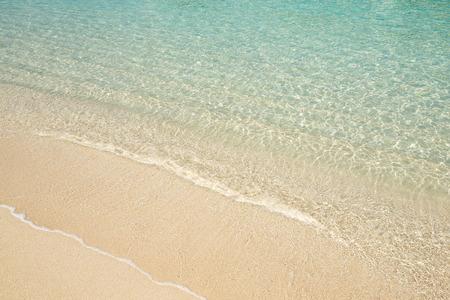 Wave of sea sand beach Stock Photo