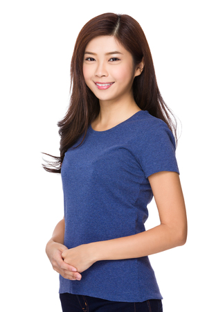 tee: Asian young woman